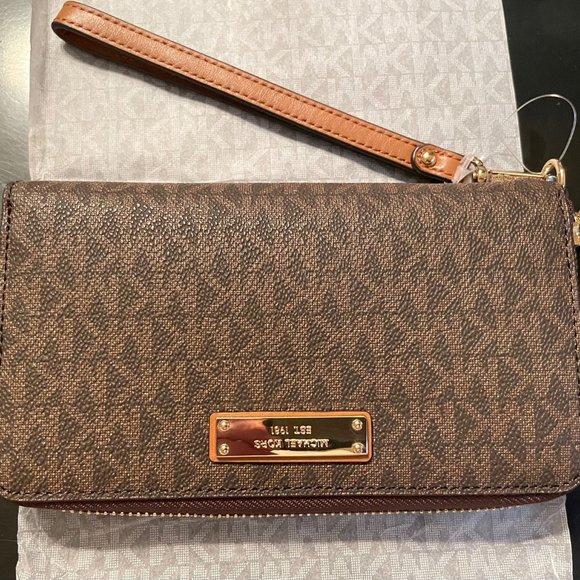 MICHAEL KORS Signature wallet phone case